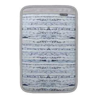Boho stripes indigo blue design MacBook sleeve