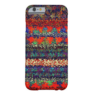 Boho Stripes on Fire Orange Denim Pattern Barely There iPhone 6 Case