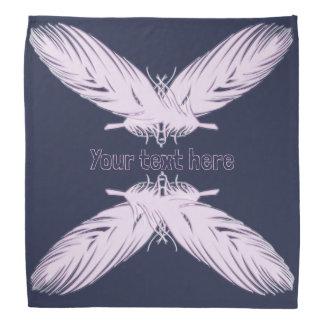 boho style feathers element.text. bandana