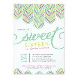 Boho Sweet Sixteen 13 Cm X 18 Cm Invitation Card
