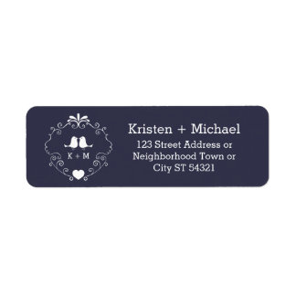 Boho Swirls (Changeable Background Color) Wedding Return Address Label