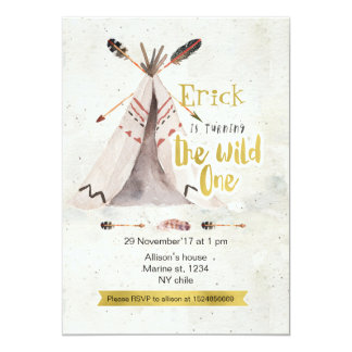 Boho The Wild One First Birthday Invitation