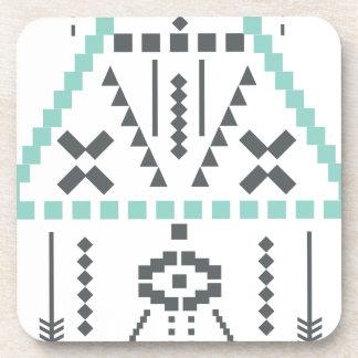 Boho Totem, Ethnic Symbol, Hippie, Aztec, Tribal Beverage Coaster