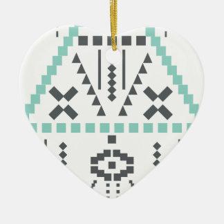 Boho Totem, Ethnic Symbol, Hippie, Aztec, Tribal Ceramic Heart Decoration