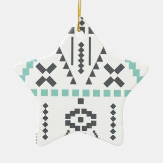 Boho Totem, Ethnic Symbol, Hippie, Aztec, Tribal Ceramic Star Decoration