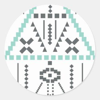 Boho Totem, Ethnic Symbol, Hippie, Aztec, Tribal Classic Round Sticker