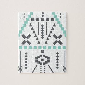 Boho Totem, Ethnic Symbol, Hippie, Aztec, Tribal Jigsaw Puzzle