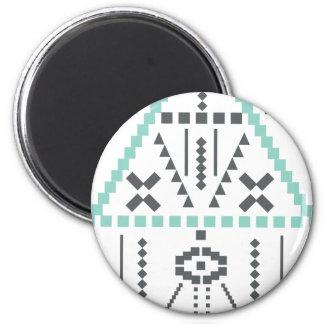 Boho Totem, Ethnic Symbol, Hippie, Aztec, Tribal Magnet