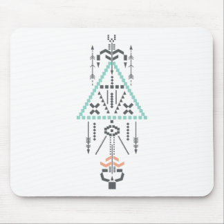 Boho Totem, Ethnic Symbol, Hippie, Aztec, Tribal Mouse Pad