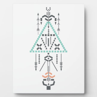 Boho Totem, Ethnic Symbol, Hippie, Aztec, Tribal Plaque