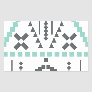 Boho Totem, Ethnic Symbol, Hippie, Aztec, Tribal Rectangular Sticker