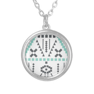 Boho Totem, Ethnic Symbol, Hippie, Aztec, Tribal Silver Plated Necklace