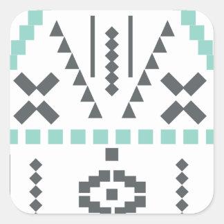 Boho Totem, Ethnic Symbol, Hippie, Aztec, Tribal Square Sticker