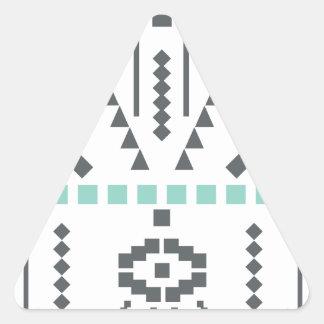 Boho Totem, Ethnic Symbol, Hippie, Aztec, Tribal Triangle Sticker