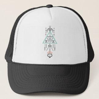 Boho Totem, Ethnic Symbol, Hippie, Aztec, Tribal Trucker Hat