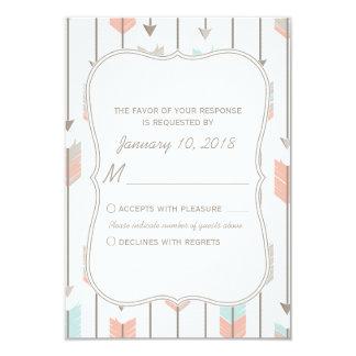 Boho Tribal Arrows Wedding RSVP Insert Card