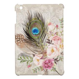 Boho Tribal Chic Peacock Feather iPad Mini Case