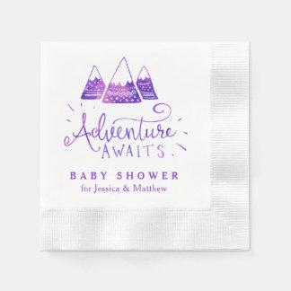 Boho Tribal Girl Adventure Baby Shower Napkins Disposable Serviette