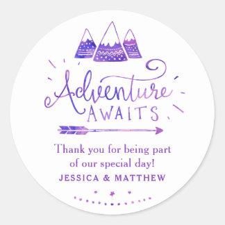 Boho Tribal Girl Adventure Baby Shower Stickers