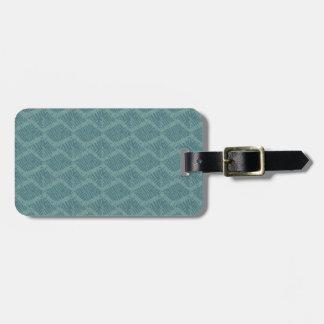 Boho Turquoise Geometric Bag Tag