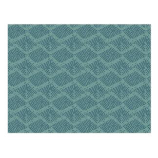 Boho Turquoise Geometric Postcard