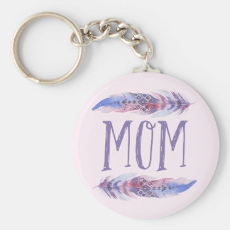 Boho Watercolor Feathers   Mother's Day Key Ring
