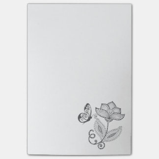BOHO Whimsical Butterfly and Flower Post-it Notes