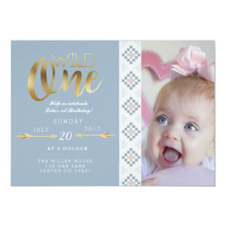 Boho Wild One | First Birthday Party 13 Cm X 18 Cm Invitation Card