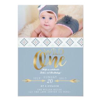Boho Wild One   First Birthday Party 13 Cm X 18 Cm Invitation Card