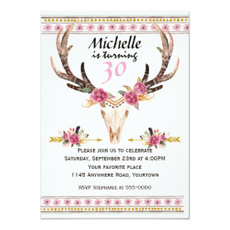 Boho Women's Southwestern Birthday 13 Cm X 18 Cm Invitation Card