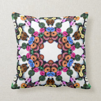 Boho Wooden Beads Cushion