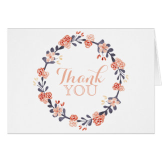 Boho Wreath Thank You Card