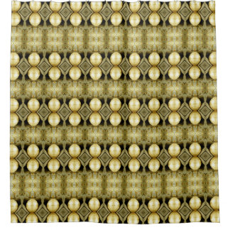 Boho Yellow Gold Gypsy Coin Bohemian Statement Shower Curtain