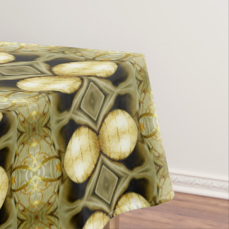 Boho Yellow Gold Gypsy Coin Bohemian Statement Tablecloth
