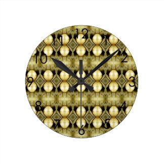 Boho Yellow Gold Gypsy Coin Bohemian Statement Wallclock