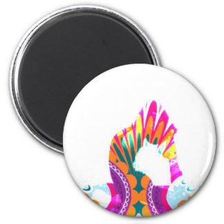 Boho Yoga King Pigeon Pose Series Magnet