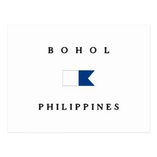 Bohol Philippines Alpha Dive Flag Postcard