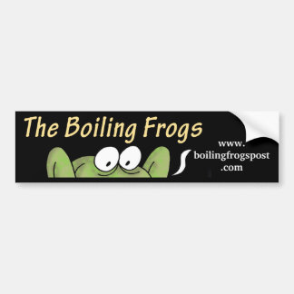 Boiling Frogs Post © Rear Window/ Car Bumper Sticker
