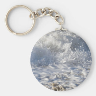 Boiling sea (Sennen beach nr Lands End) Key Ring