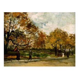 Bois de Boulogne, People Walking, Vincent van Gogh Postcard