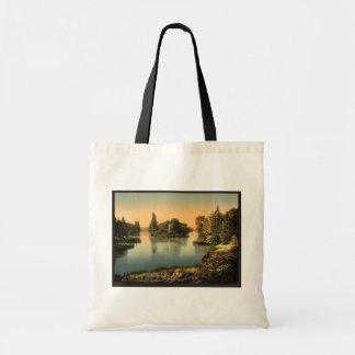 Bois du Boulougne i e Boulogne the lake Pari Canvas Bag