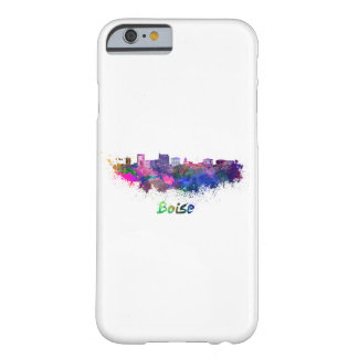 Boise City skyline in watercolor Barely There iPhone 6 Case