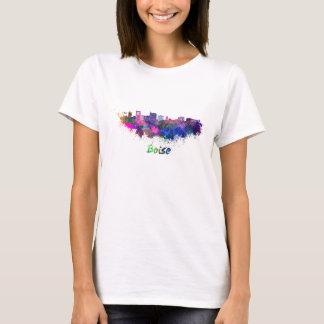 Boise City skyline in watercolor T-Shirt