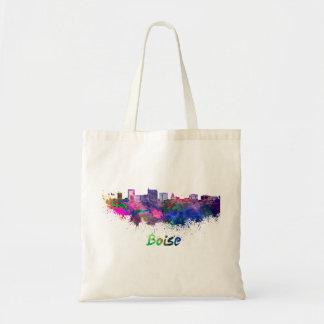 Boise City skyline in watercolor Tote Bag