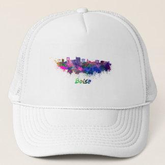 Boise City skyline in watercolor Trucker Hat