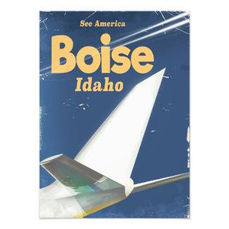 Boise Idaho flight poster Photographic Print