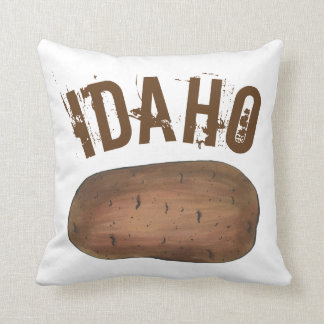Boise Idaho ID Potato Brown Potatoes Spuds Food Cushion