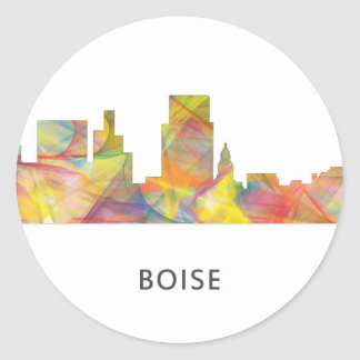 BOISE IDAHO SKYLINE WB1 - CLASSIC ROUND STICKER
