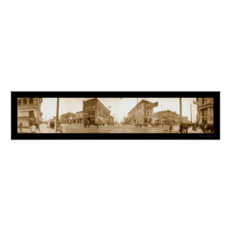 Boise Idaho Street Photo 1907 Poster