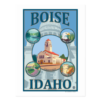 Boise, IdahoScenic Travel Poster Postcard
